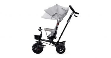kinderkraft tricycle aveo gris - 3 roues - evolutif - pliable