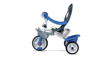 smoby tricycle baby balade roues silencieuses bleu
